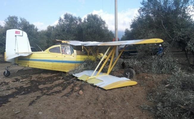 Edremit'te uçak düştü