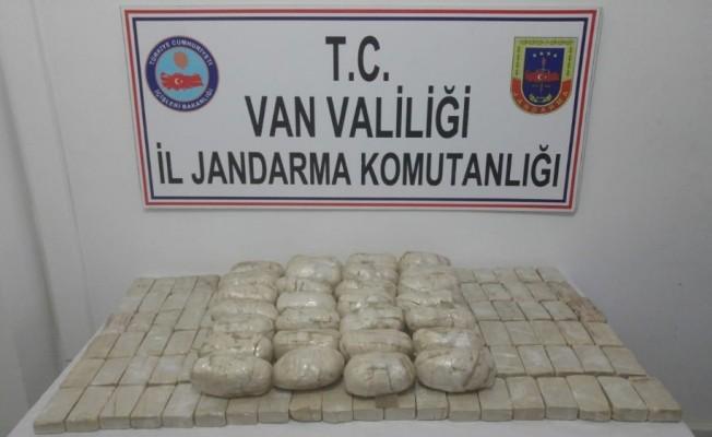 Van'da yerin altına gömülü 39 kilo eroin ele geçirildi
