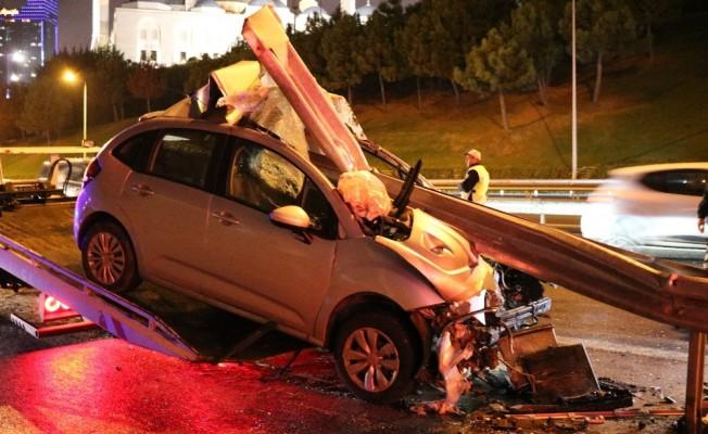 TEM'de feci kaza kaza: 1 yaralı