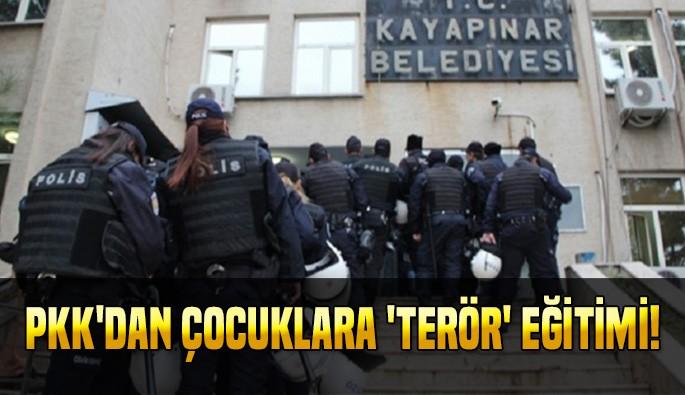 PKK'dan çocuklara 'terör' eğitimi