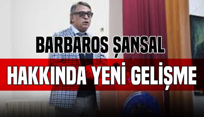 Barbaros Şansal hakkında iddianame kabul edildi