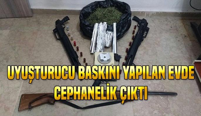 Bursa'da uyuşturucu baskını yapılan evde cephanelik çıktı