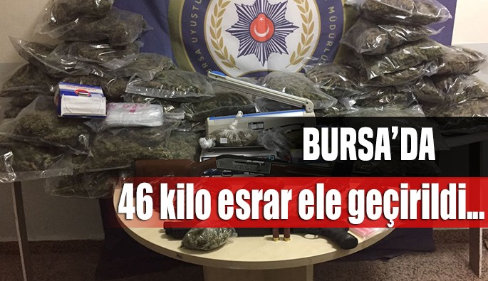 Bursa'da son 1 haftada 46 kilo esrar ele geçirildi
