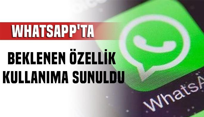 WhatsApp'ta sohbet sabitleme herkese açıldı