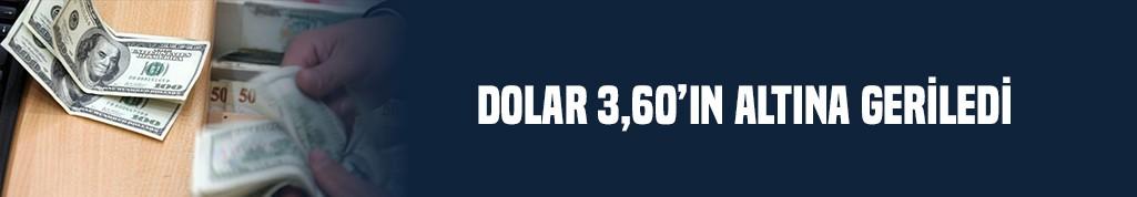 Dolar 3,60'ın altına geriledi