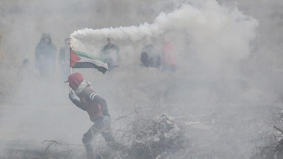 Gazze sınırındaki gösterilerde 11 Filistinli yaralandı