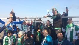 Bursasporlu taraftarlar İstanbul'a akın etti