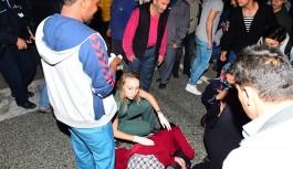 Bursa'da anne ile kızına çarpan araç faciaya sebep oluyordu