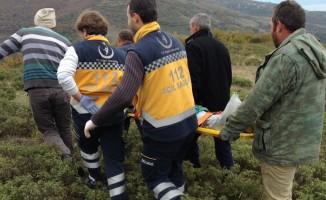 Bursa'da ayağı kırılan çoban için nefes kesen kurtarma operasyonu