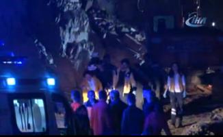 İstanbul'da göçük: 2 yaralı