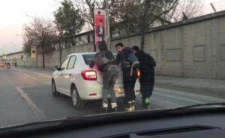 Patenli gençler trafikte tehlike saçtı