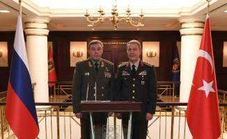 Valery  Gerasimov, Hulusi Akar'ı ziyaret etti