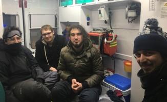 Dağda mahsur kalan 3 üniversiteli genç kurtarıldı