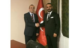 Türkeş'ten MHP İl Başkanı Topçu'ya ziyaret