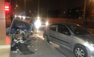 Bursa'da kontrolden çıkan araç dehşet saçtı!