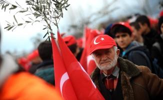 Bursa'nın zeytin diyarından 'Zeytin Dalı Harekatı'na tam destek