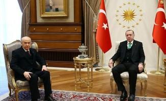 Cumhurbaşkanı Erdoğan ile Bahçeli'nin görüşmesi bitti