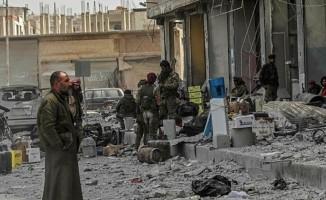 Afrin'de teröristlerin tuzakladığı binada patlama!