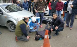 Bursa'da motosikletli genç ölümden döndü!