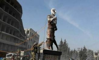 ÖSO güçleri, Afrin'deki Kawa heykelini yıktı!
