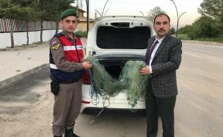 Büyükorhan'da kaçak avcılara suçüstü