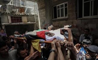 Gazze şehidi toprağa verildi