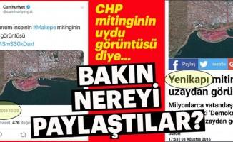 CHP'nin İstanbul Maltepe Mitingi diye paylaştıkları yer bakın neresi çıktı?