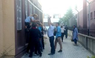 Niğde Adliyesi'nde yangın ( Oylar binadan çıkartıldı )