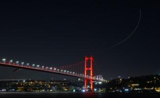 15 Temmuz Şehitler Köprüsü'nde ışıklar