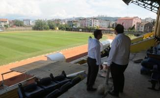 Fatsa ilçe stadında çalışmalar devam ediyor