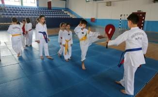 Odunpazarı Belediyesi Tekvando Yaz Okulu'na çocuklar yoğun ilgi gösterdi