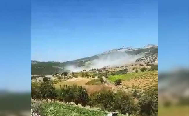 Adıyaman'da 4 askerin şehit olduğu terör olayından sıcak görüntü
