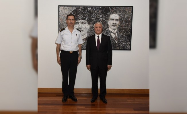 Albay Ağaoğlu'ndan Rektör Gündoğan'a veda ziyareti