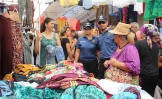 Ayvalık'ta polisten Perşembe Pazarı ile Kurban Pazarı'nda sıkı güvenlik önlemleri
