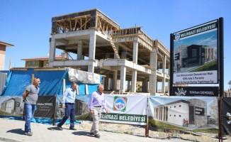 Başkan Büyükkılıç Aile Sağlık Merkezi ile Kuran Kursu inşaatında incelemede bulundu