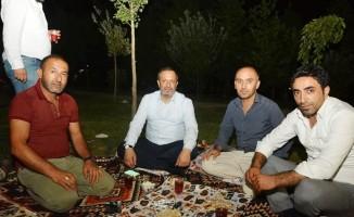 Başkan Toltar'dan piknikçilere ziyaret