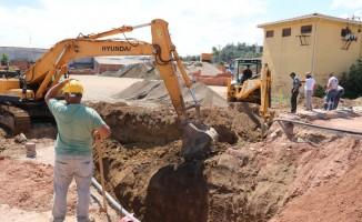Biga'da dev altyapı çalışması başladı