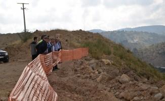 Bolu Valisi Aydın BAruş, yüzde 85'i tamamlanan Tekke Barajını ziyaret etti