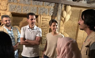 (Düzeltme) Beşar Esad, Şam'da bir tüneli inceledi
