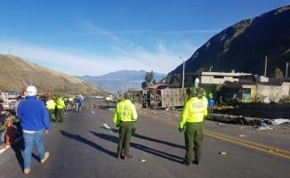 Ekvador'da otobüs kazası: 23 ölü, 14 yaralı