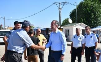İnegöl hayvan pazarına Başkan Taban'dan ziyaret