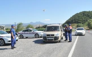 Jandarmadan drone ile trafik uygulaması