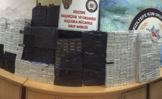 Kızıltepe'de 35 bin paket kaçak sigara ele geçirildi