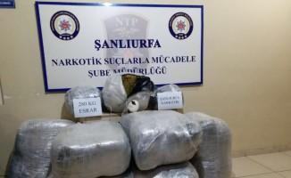 Şanlıurfa' da 280 kilogram esrar ele geçirildi
