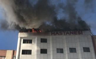 Sultanbeyli'deki özel hastanede korkutan yangın