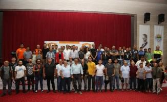 TMF'den Başkan Tuna'ya spora katkı plaketi