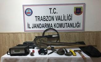 Trabzon'da izinsiz define kazısı yapan 7 kişi gözaltına alındı