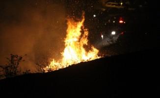 Trabzon'da örtü yangını: 4 saatte söndürüldü