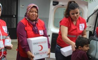 Türk Kızılayı Eskişehir Şubesi yardımlarına devam ediyor