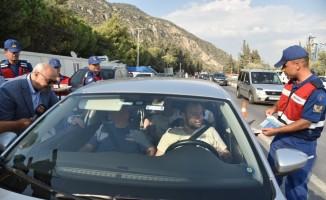 Vali Köşger, bayram nedeniyle karayollarında inceleme yaptı